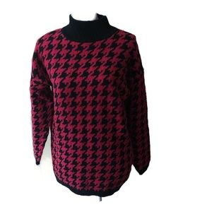 Nordstrom Sweaters - Nordstrom's Brass Plum red&black chunky sweater M